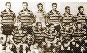 Time do Santa Cruz em 1915. O elenco foi responsável pela maior virada do futebol brasileiro.